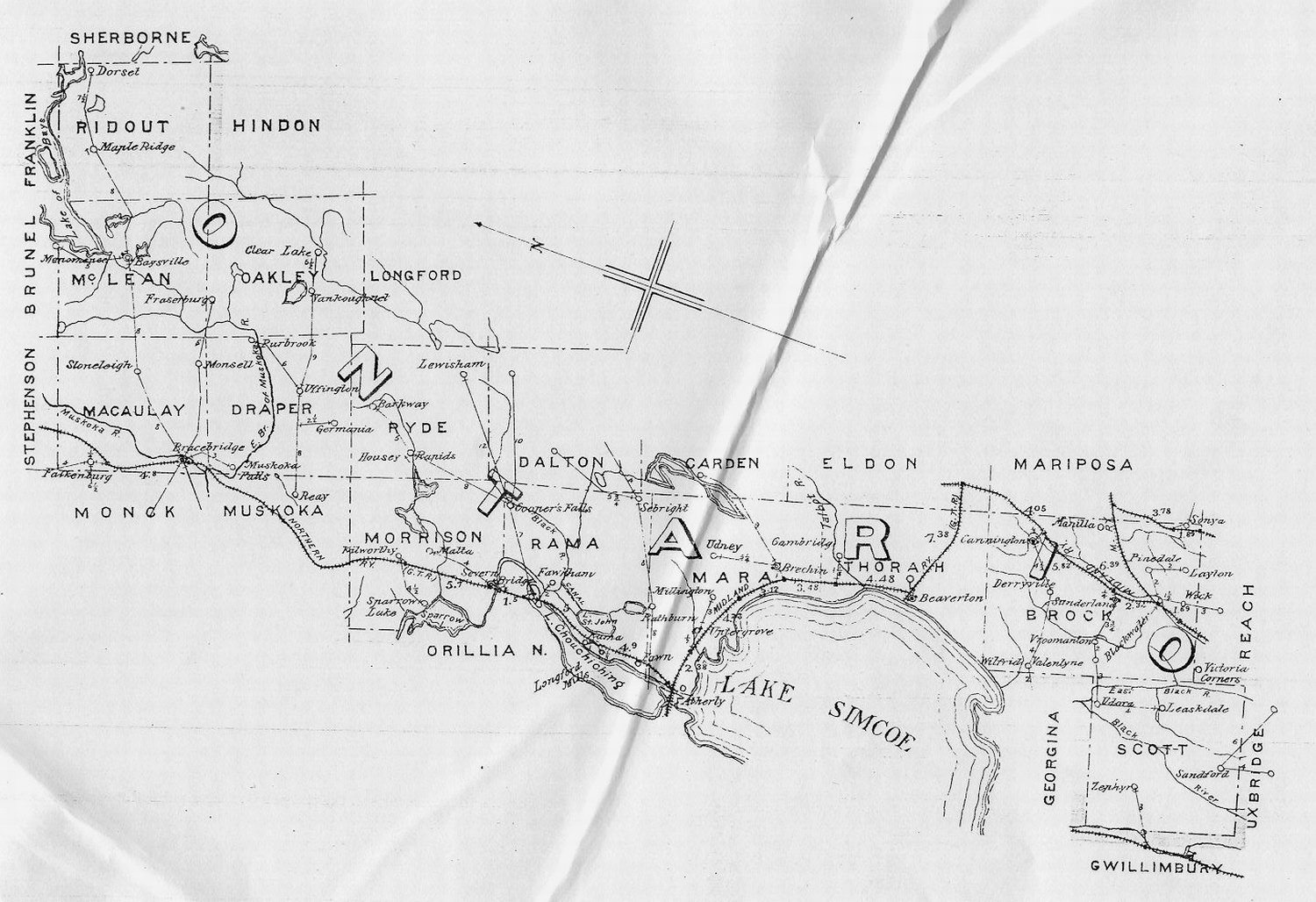 Maps Ontario Counties Ontario County North Map