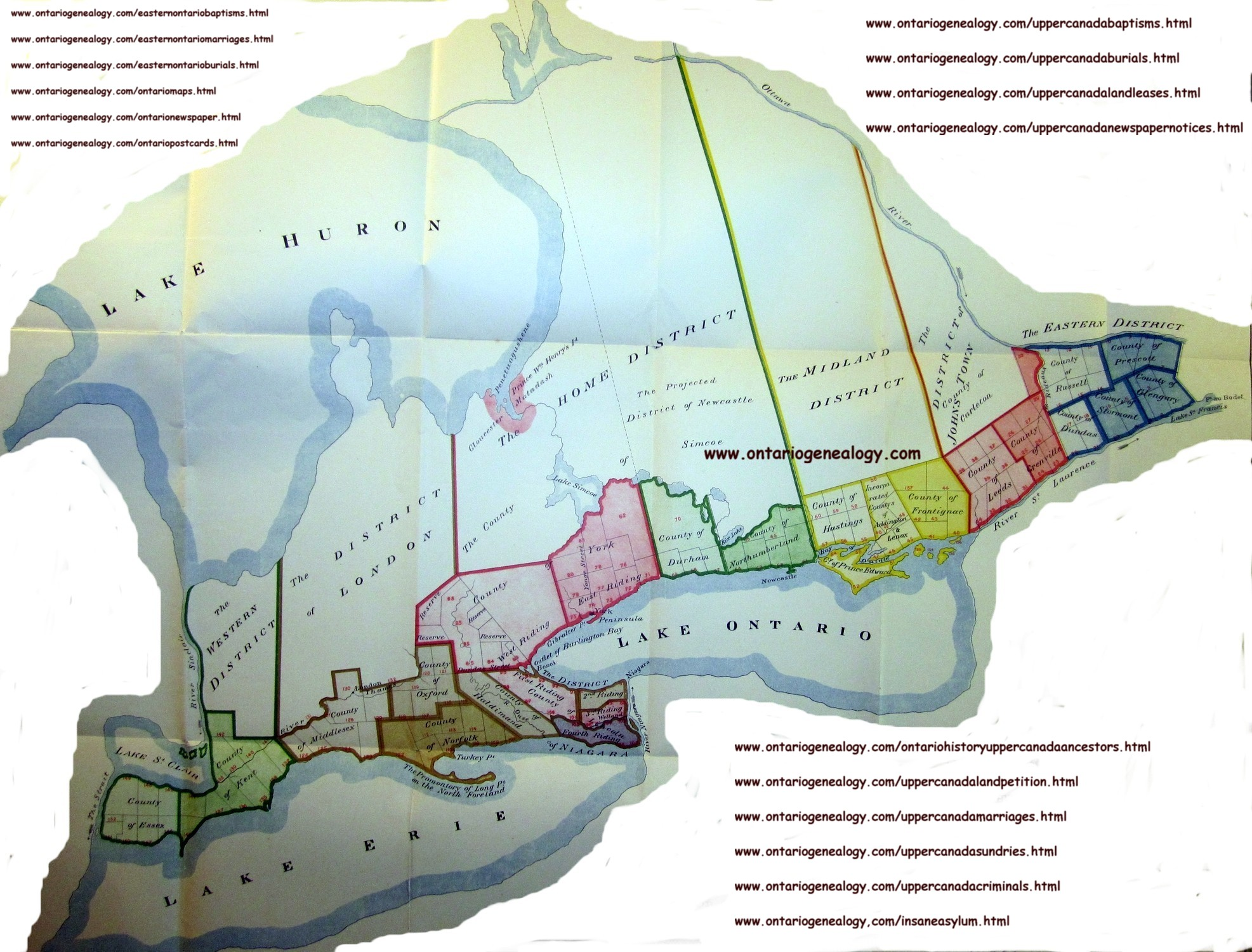 Map Of Upper Canada 1800 Upper Canada (Ontario) Historical Map Collection